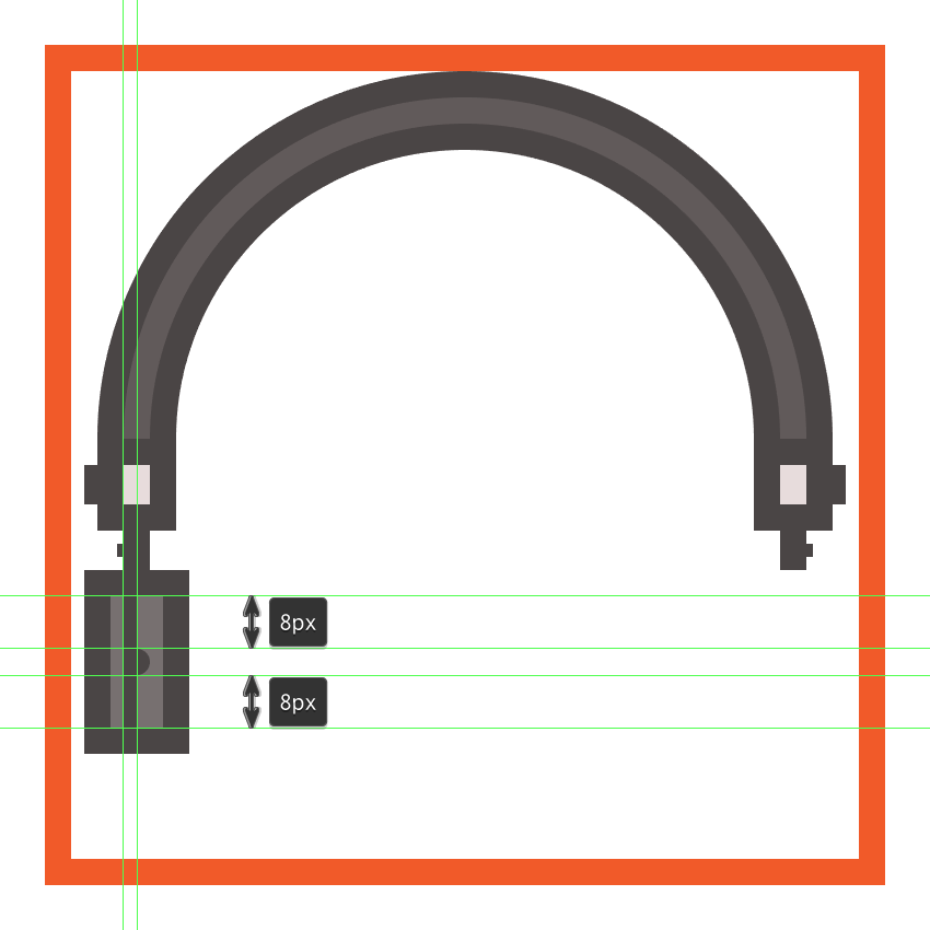 adding details to the headphones left driver enclosure
