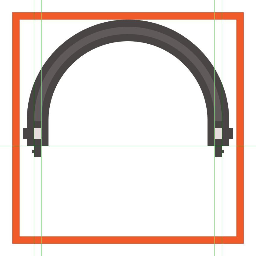 adding the adjustment steps to the lower section of the headphones band