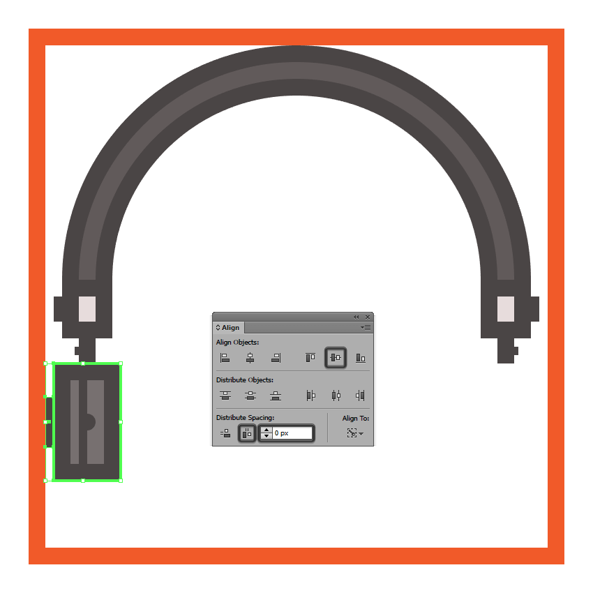 adding the side section to the headphones left driver enclosure