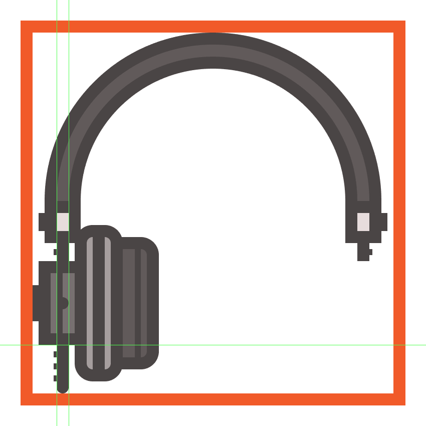 creating and positioning the main shapes for the headphones left adjustment extension
