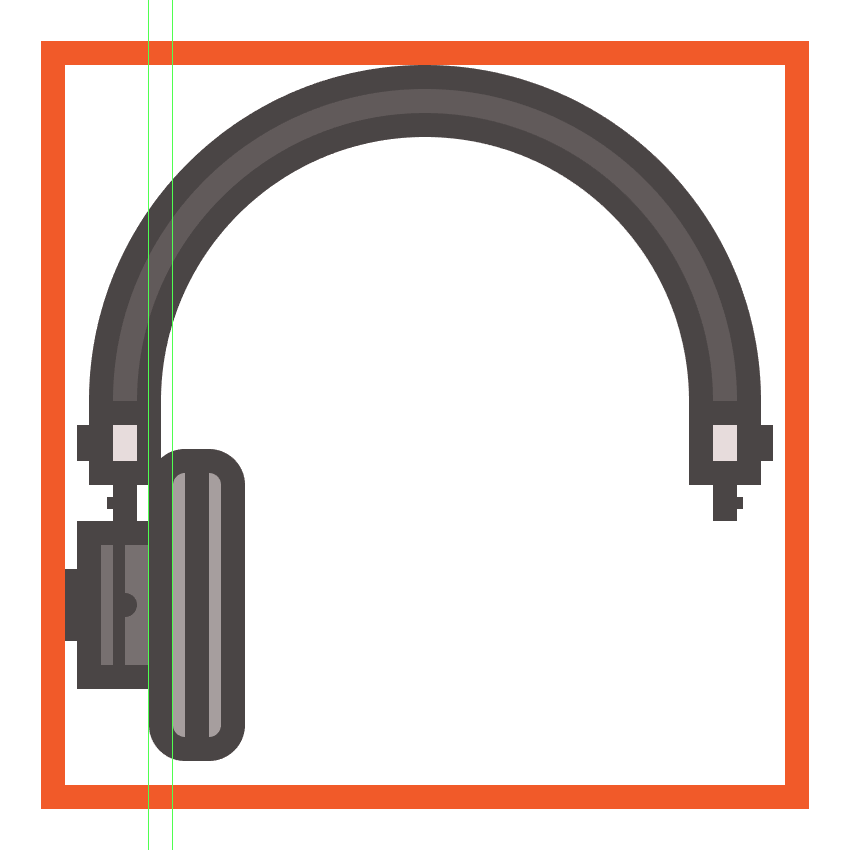 creating and positioning the main shapes for the headphones left cup