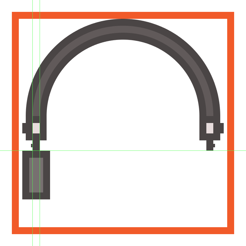 creating and positioning the main shapes for the headphones left driver enclosure