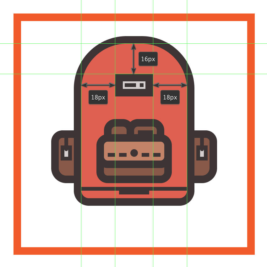 creating and positioning the label onto the backpacks body