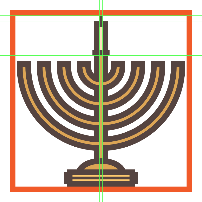 adding details to the menorahs center candle