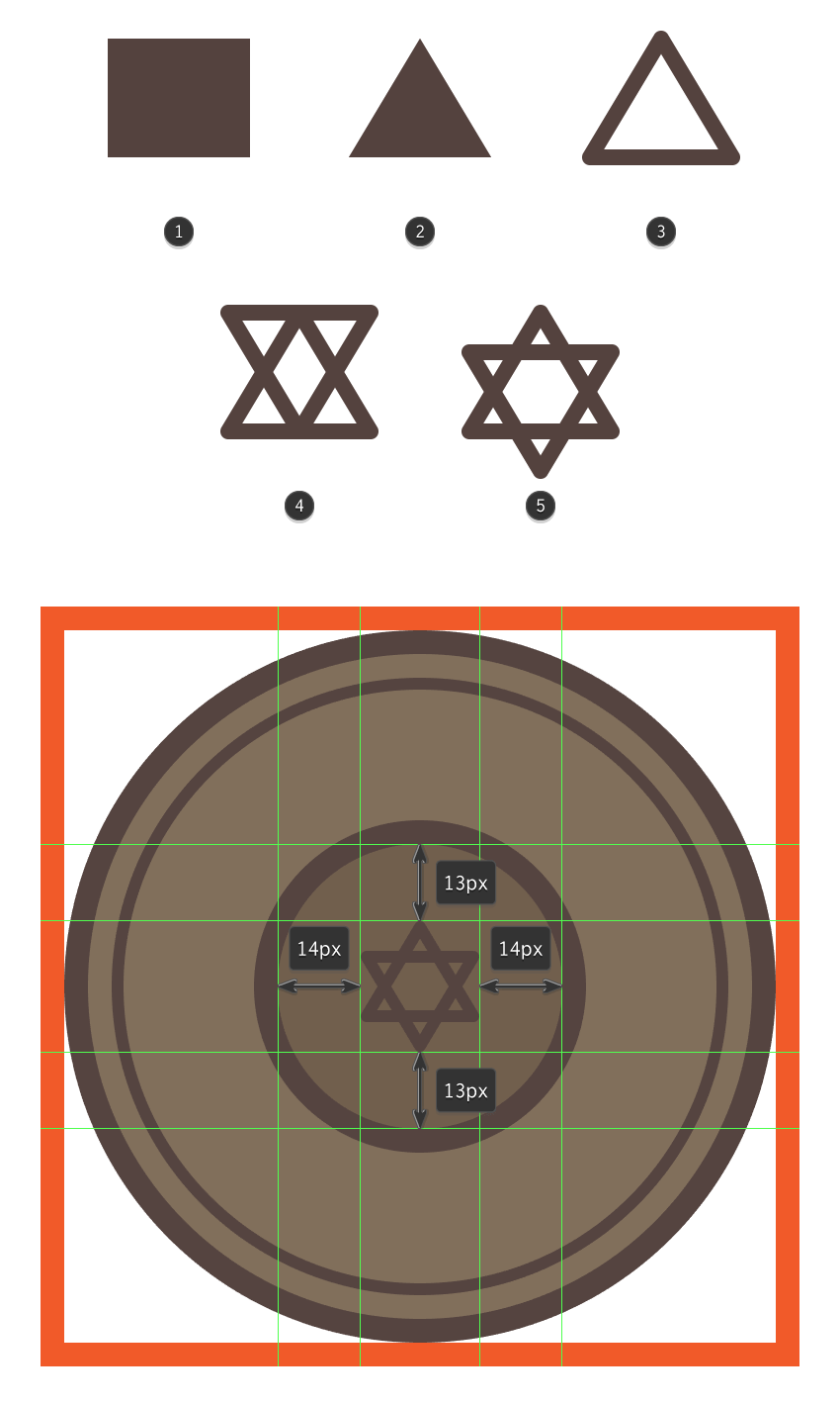 creating the plates star of david