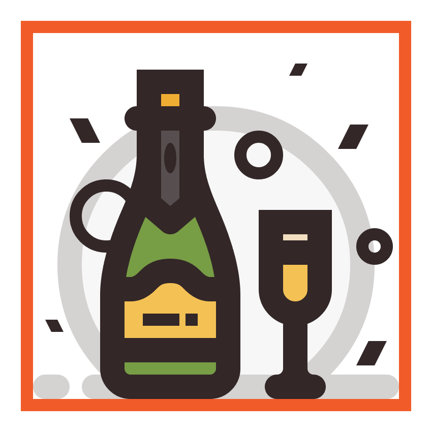 champagne icon finished
