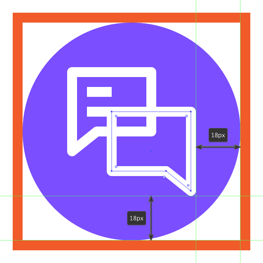 creating and positioning the messaging icons second text box