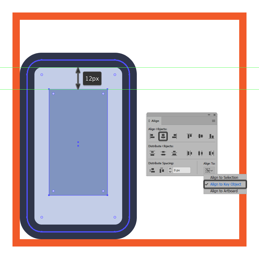 creating and positioning the main shape for the left phones display