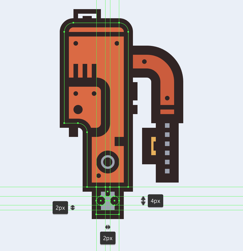 adding details to the electric saws connecting section