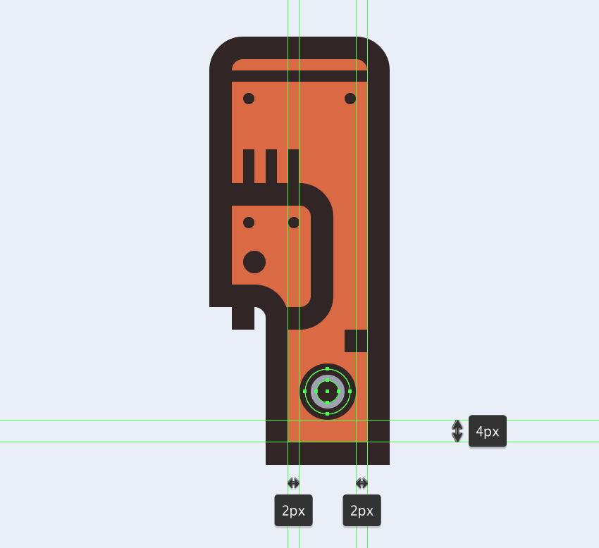 adding the circular button to the electric saws main body