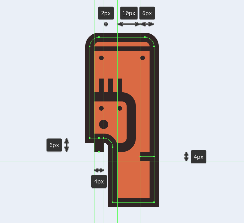 adding the little detail lines to the electric saws outline