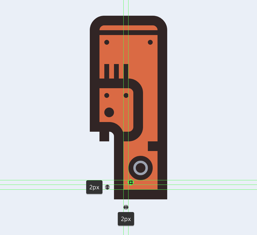 adding the little screw to the electric saws circular button