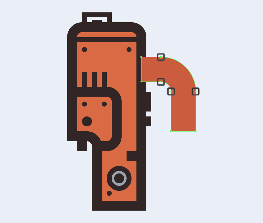 adjusting the shape of the electric saws handle