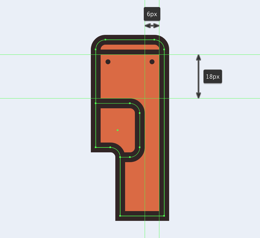 adjusting the shape of the electric saws side section