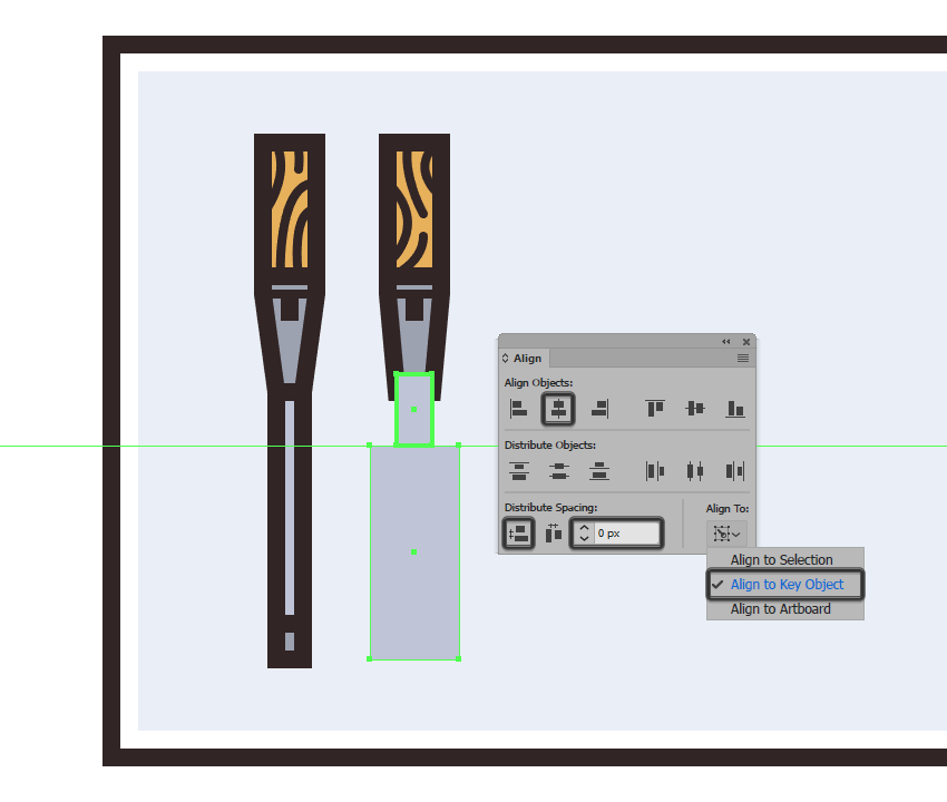 creating and positioning the larger rectangle for the center section of the wider chisels metal body