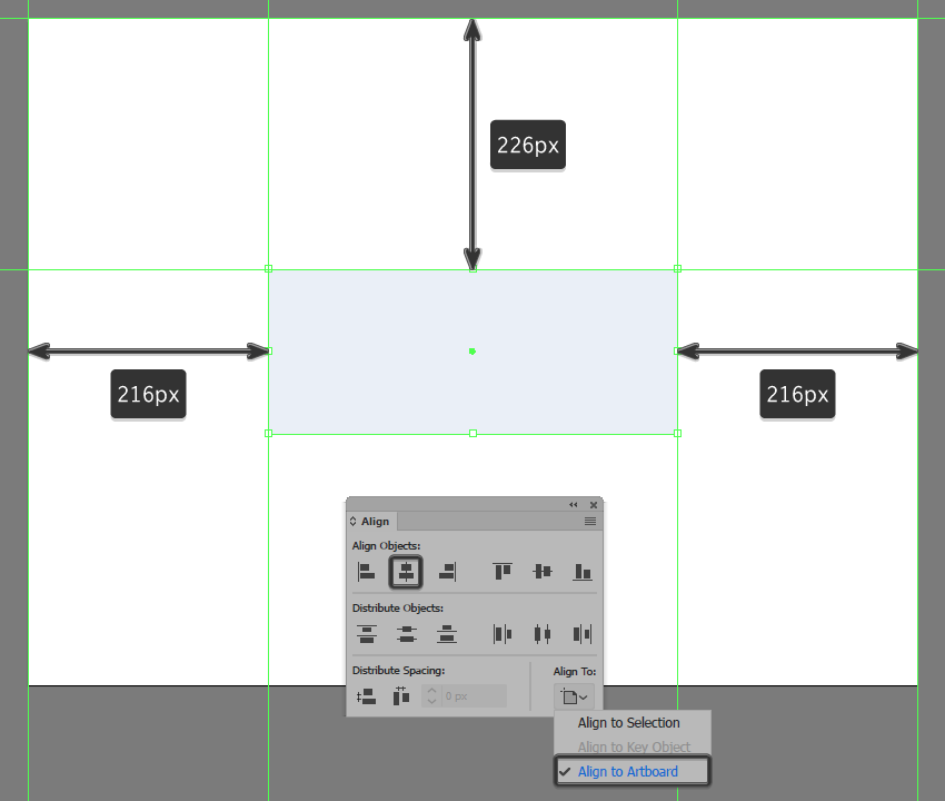 creating and positioning the main shape for the backgrounds fill section