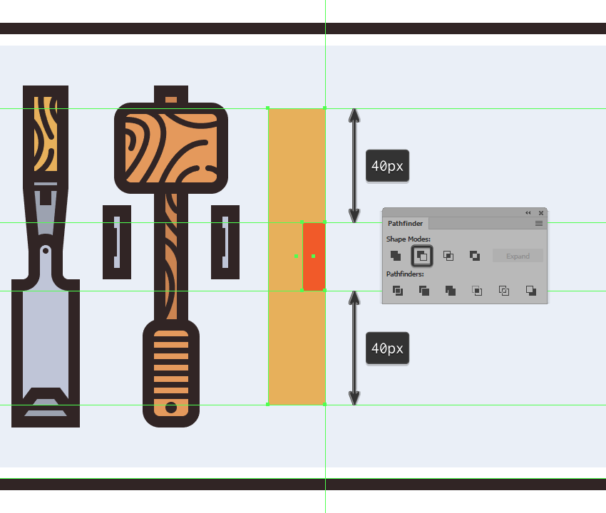 cutting out the smaller rectangle from the levels body