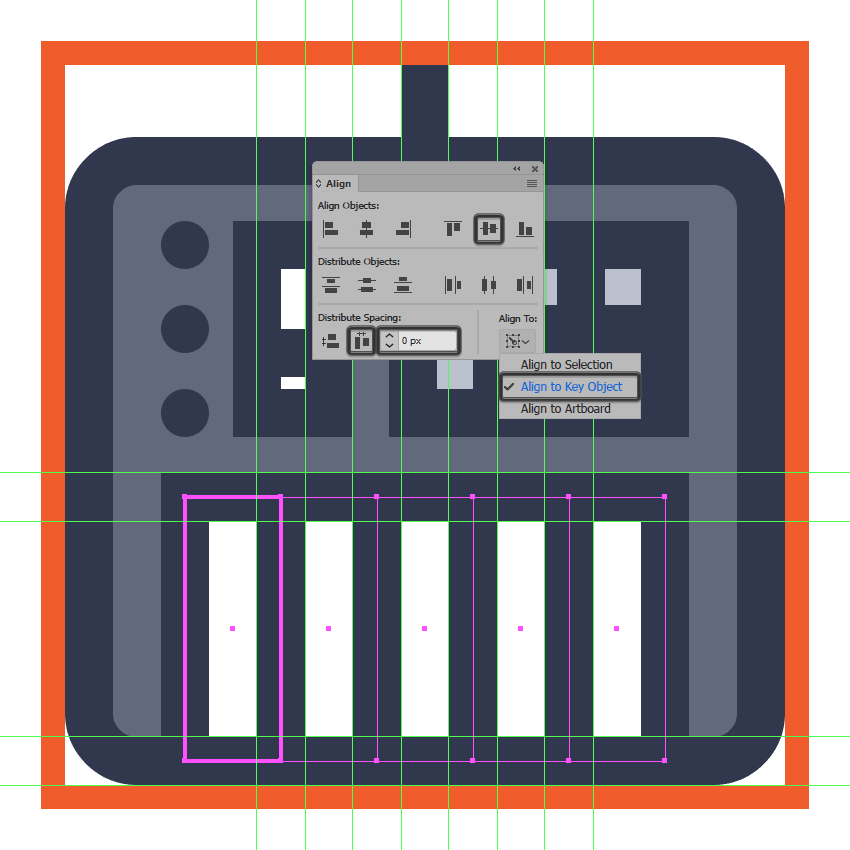 adding the midi controller icons remaining keys