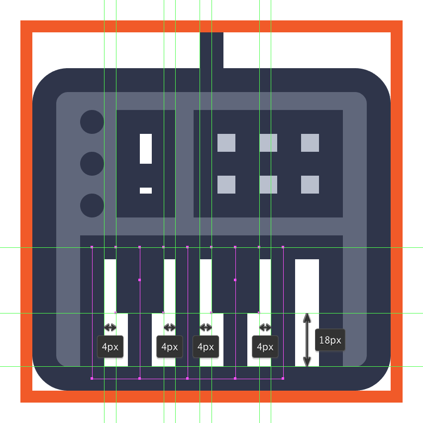 finishing off the midi controller icon