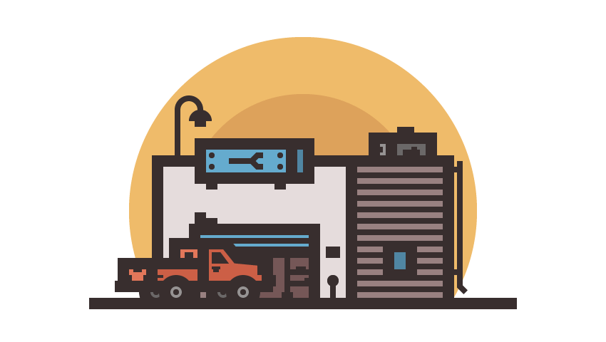 How to Create an Auto Repair Shop Illustration in Adobe Illustrator