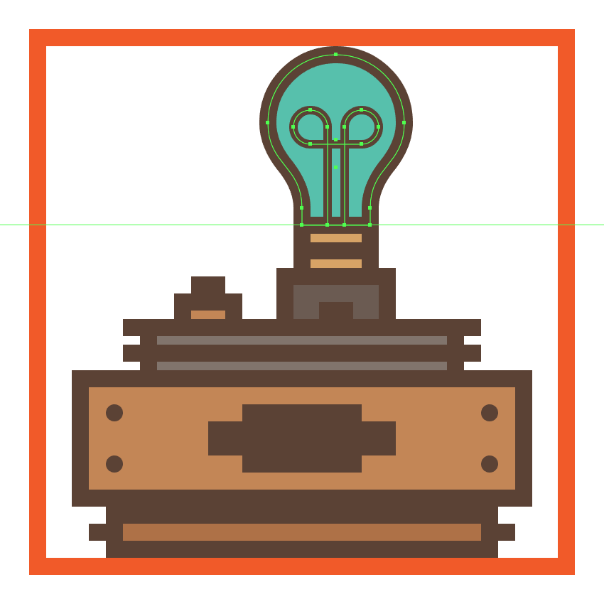 finishing off the lamp checker icon