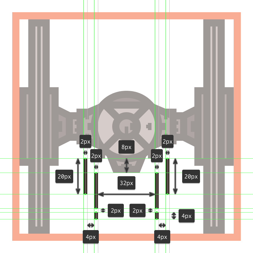 finishing off the tie fighter icon