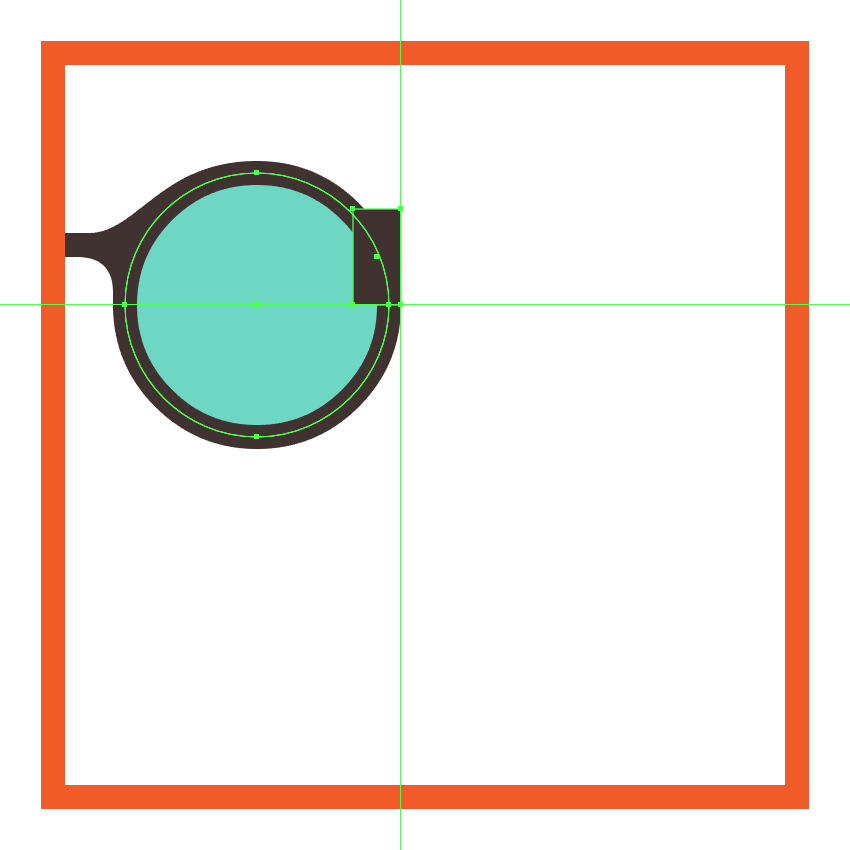 creating and positioning the main shape for the glasses left inner piece