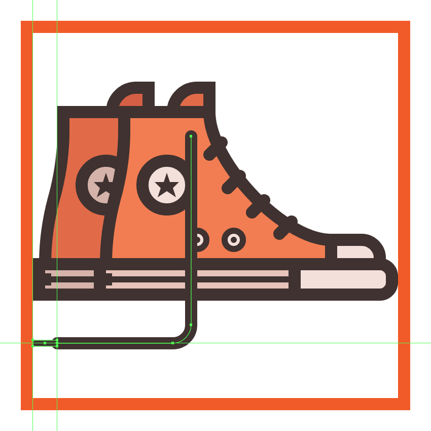 finishing off the shoe icon