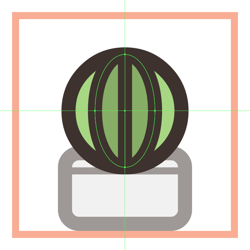 adding the vertical divider line to the second cactus icons plant