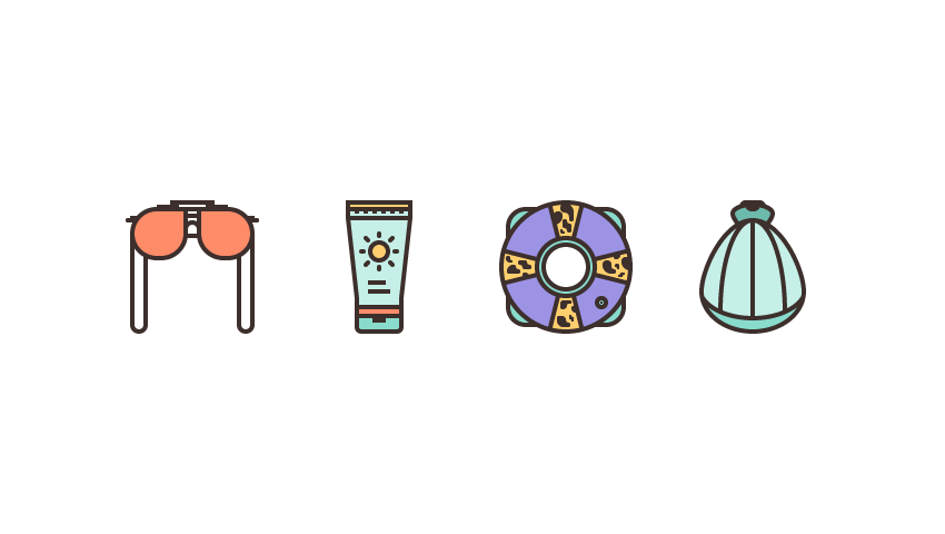 How to Create a Summer-Themed Icon Pack in Adobe Illustrator