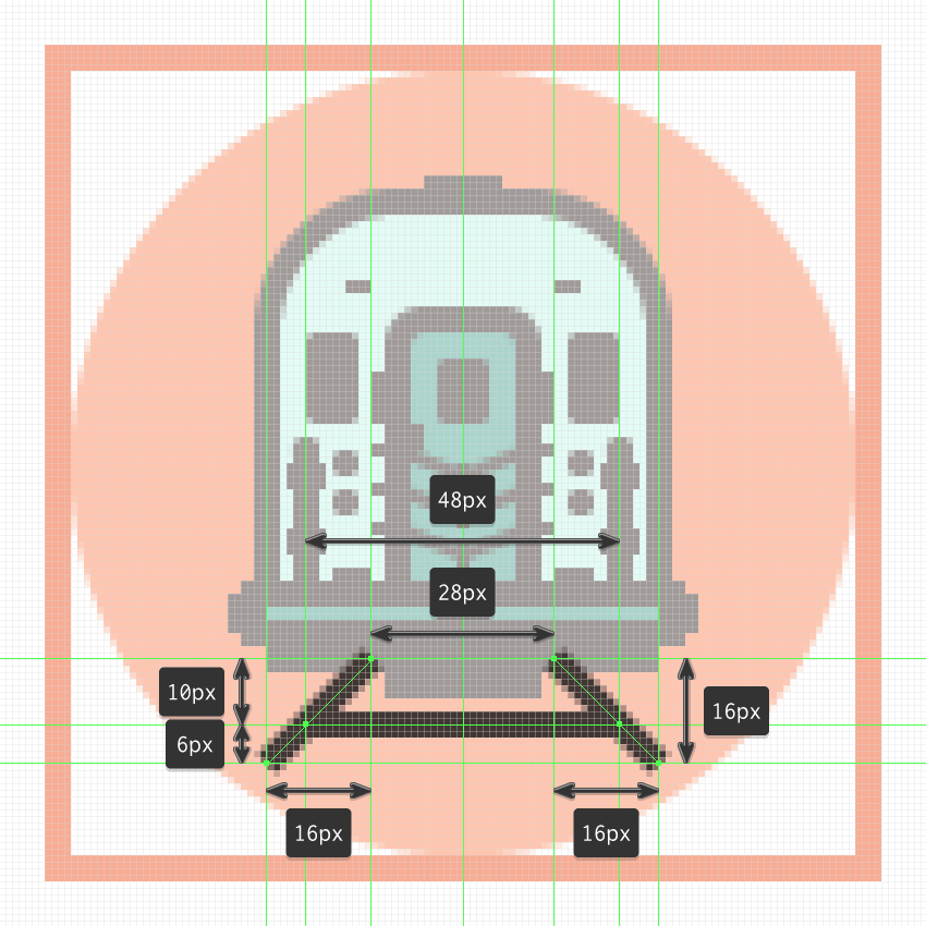 finishing off the train icon
