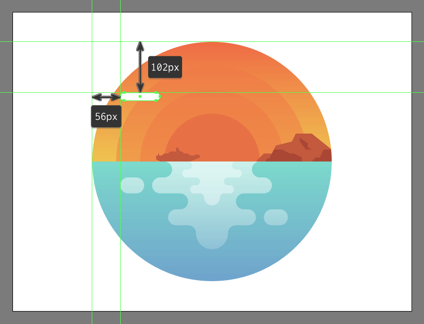creating and positioning the main shape for the illustrations first cloud group