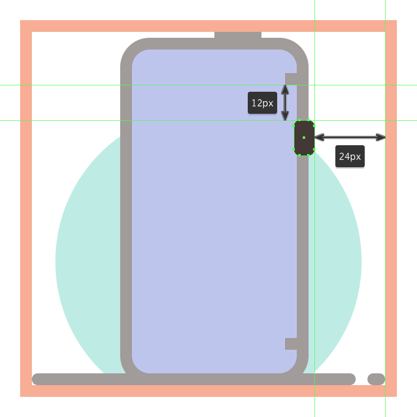 adding the side button to the third phones side section