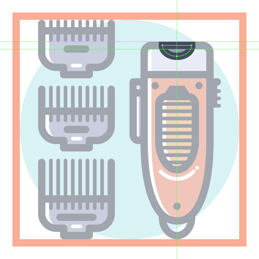 How to Create a Set of Barber Tools in Adobe Illustrator
