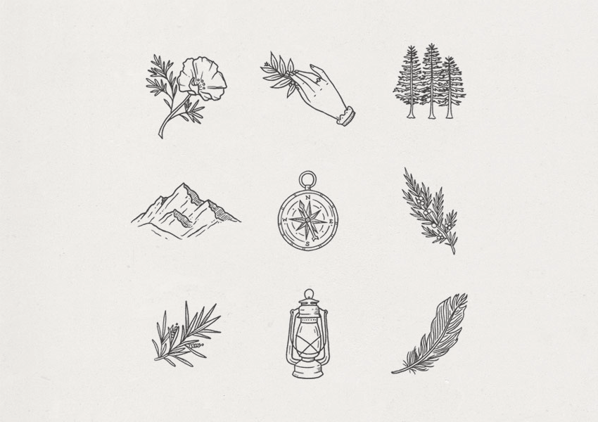 hand drawn icons by corrine alexandra