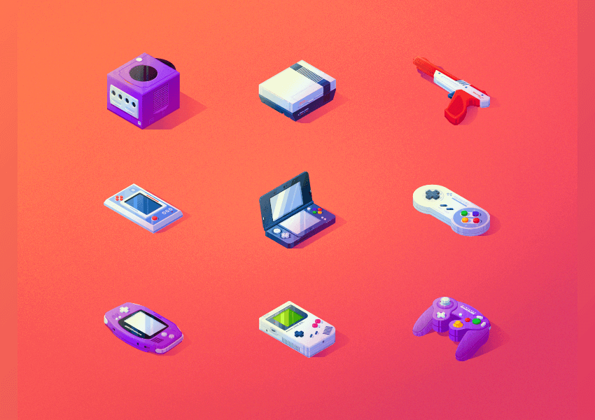 isometric icons by Thomas Brunsdon