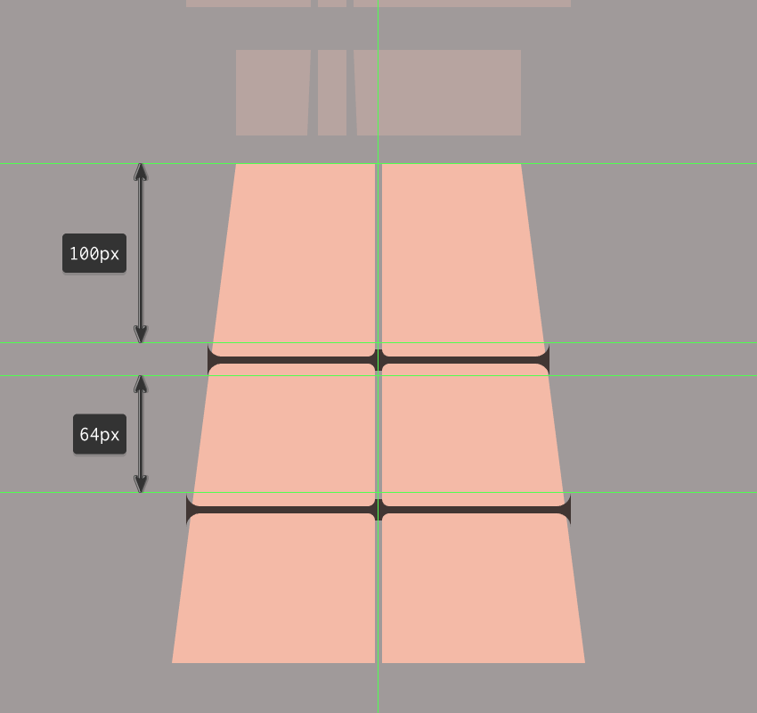 adding the horizontal grids to the illustrations projected window