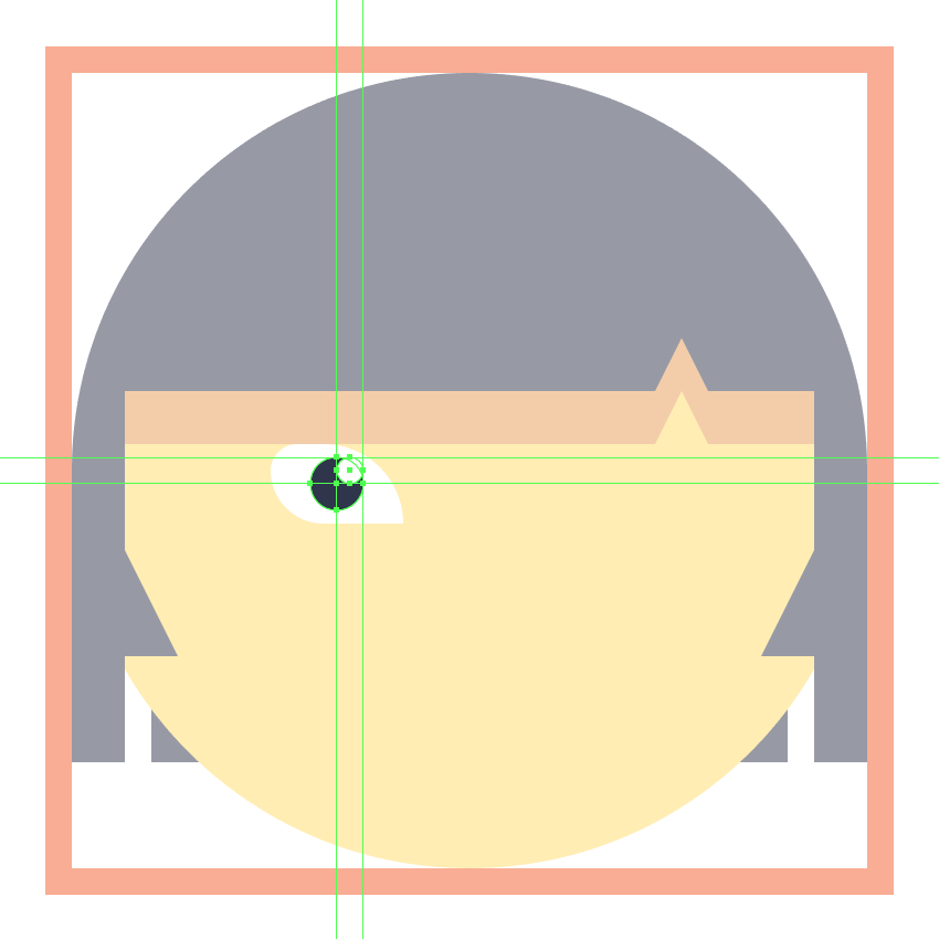 adding details to the left eye of the jubilee emoji