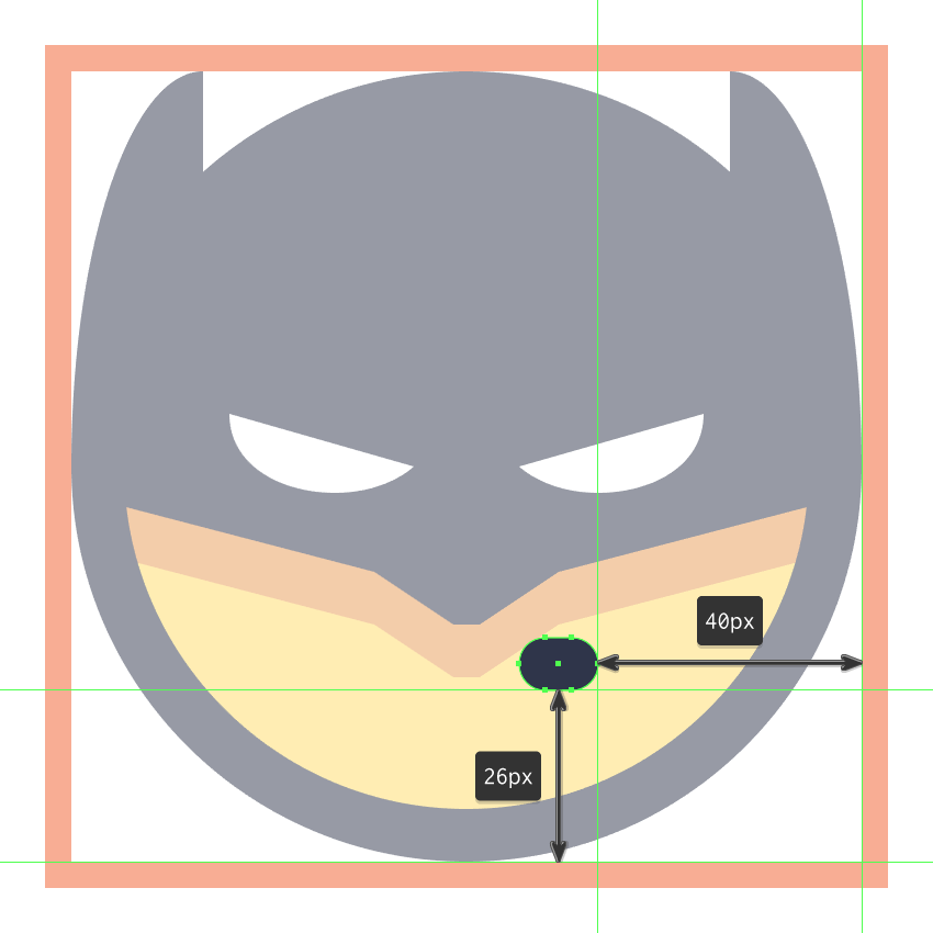 adding the mouth to the batman emoji