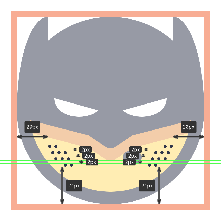 finishing off the batman emoji
