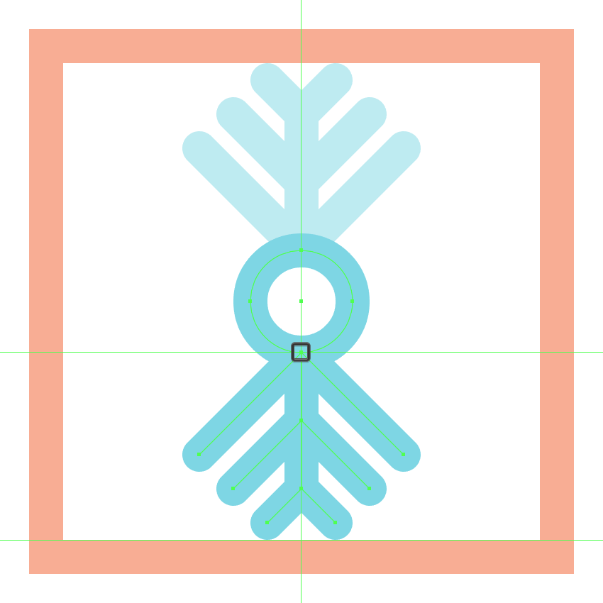 adding the bottom segments to the third snowflake