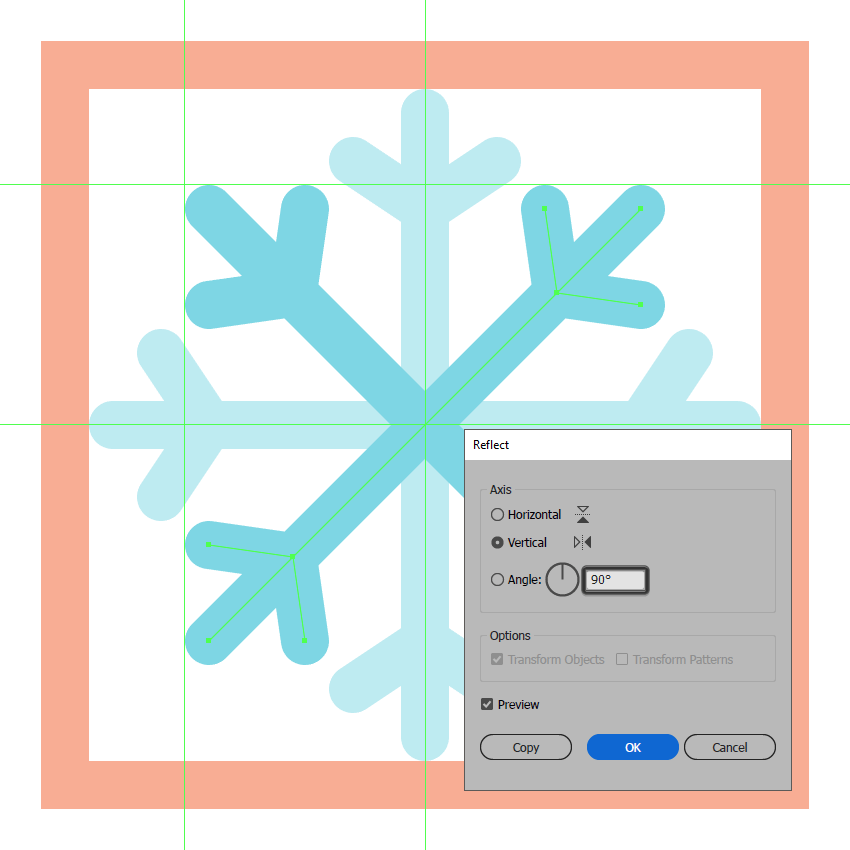 finishing off the first snowflake