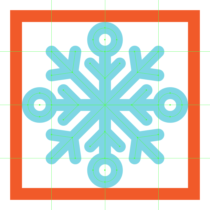 finishing off the second snowflake