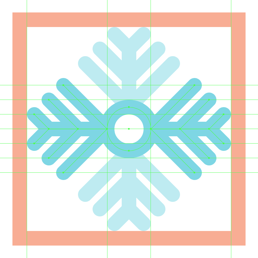 finishing off the third snowflake