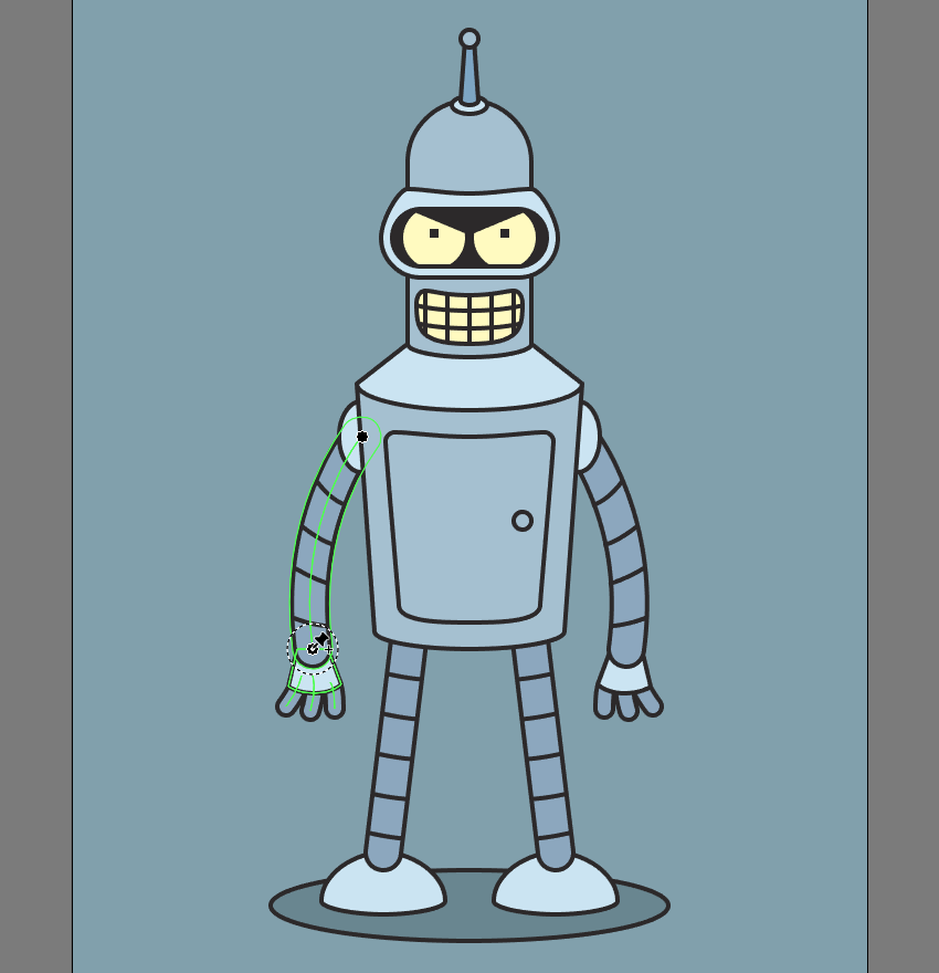How to Create Bender From Futurama With the New Puppet Warp Tool in Adobe Illustrator