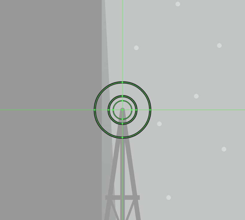 adding the thicker circles to the head of the windmill