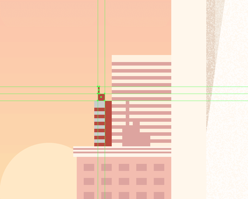 adding the antenna assembly to the smaller right-sided building