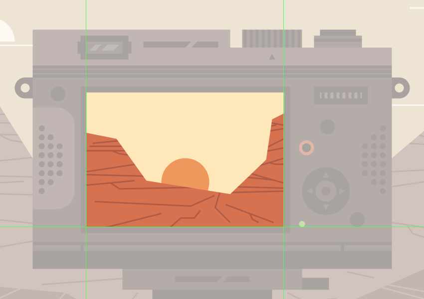 adding the detail lines to the smaller canyon