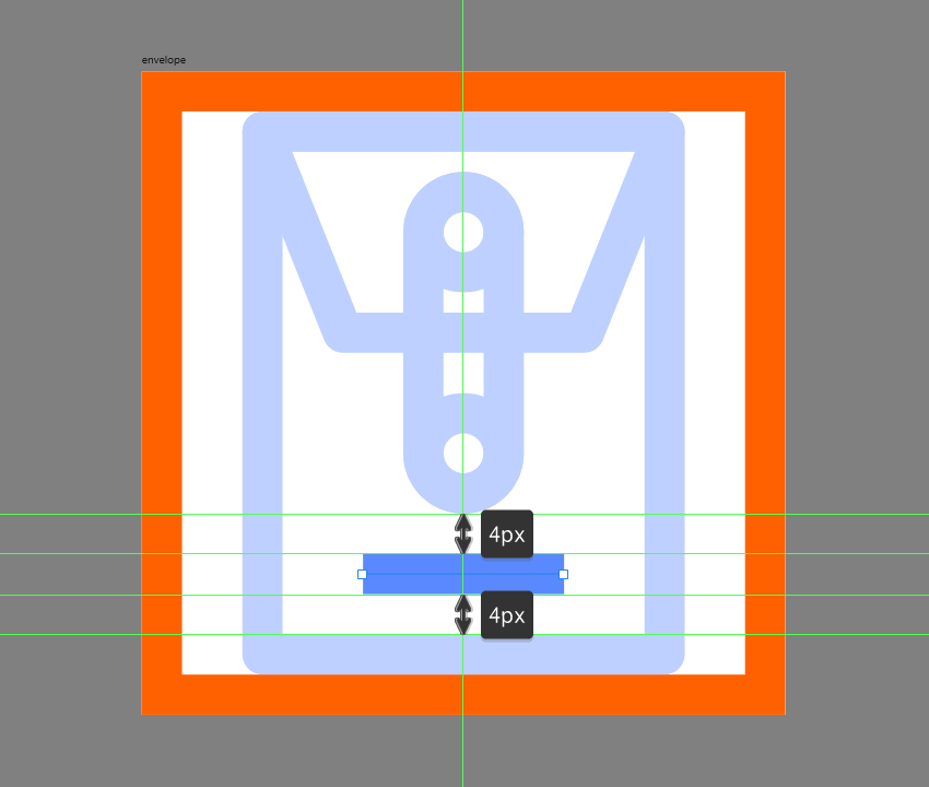 finishing off the envelope icon