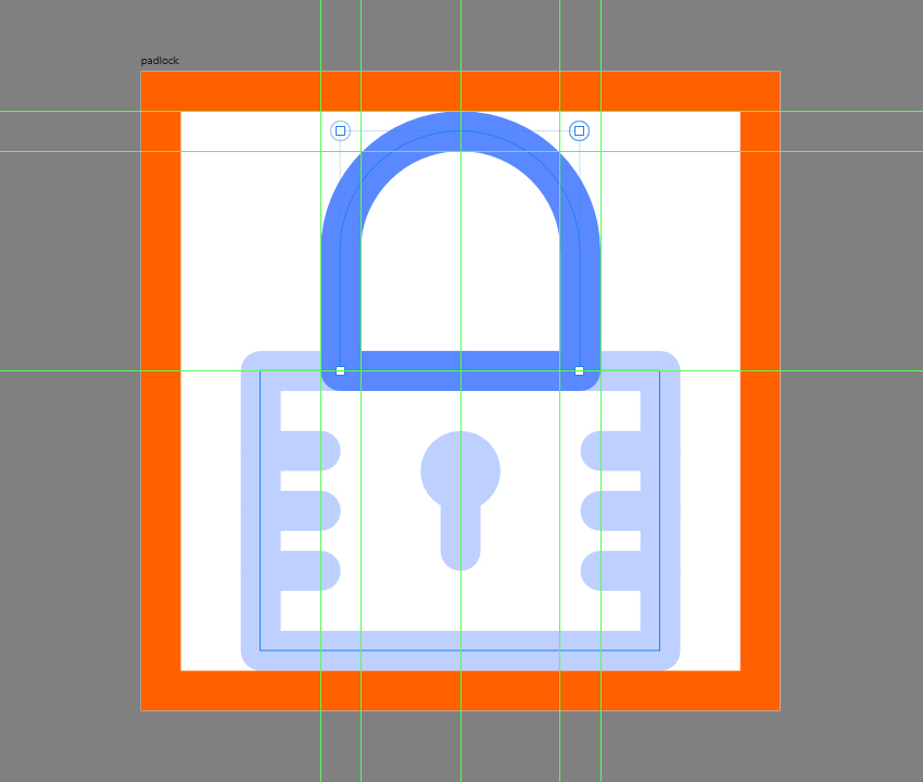 finishing off the padlock icon